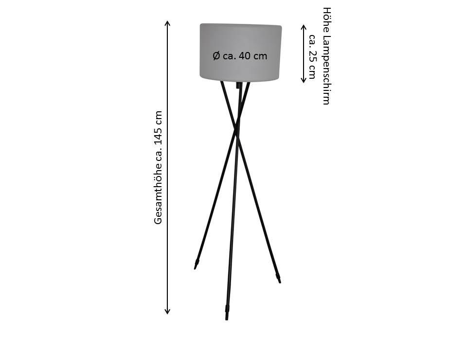 terrace floor lamp tripod leco werke